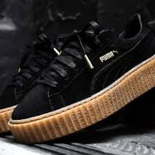 4a1e3f048bb44a Fashion Shoes by Rihanna Fenty creeper black sneakers on Storenvy