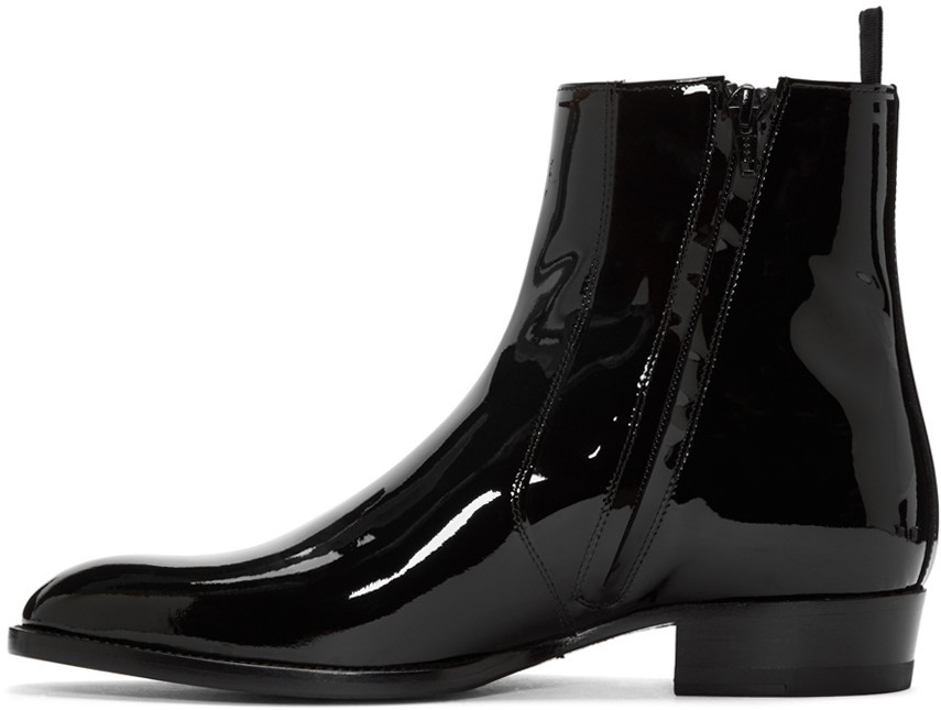 New Handmade Men's Fashion Black Patent