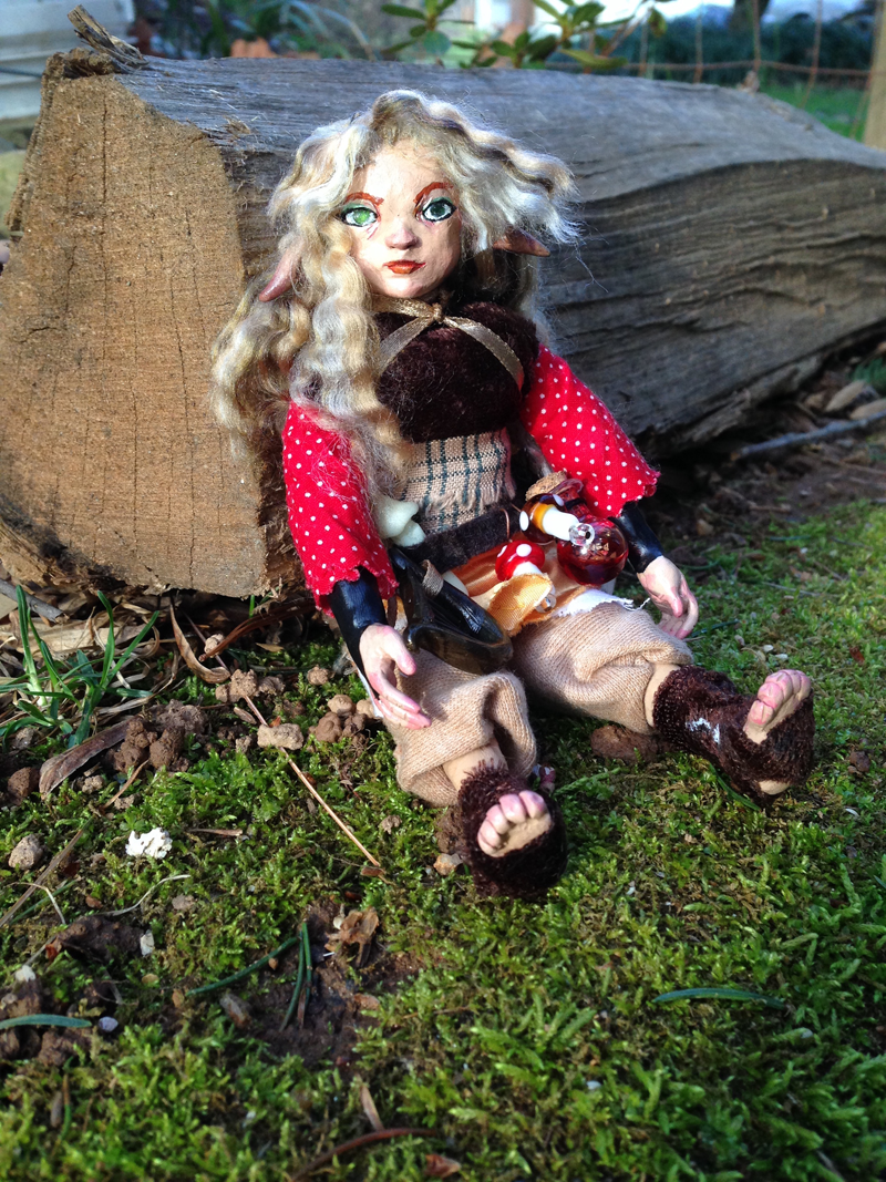 Gnome Bard Art Doll / OOAK Polymer Clay Creation / DnD Commissions Available
