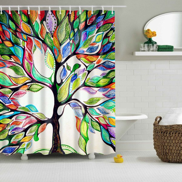 Colorful Tree Of Life Print Waterproof Shower Curtain On Storenvy