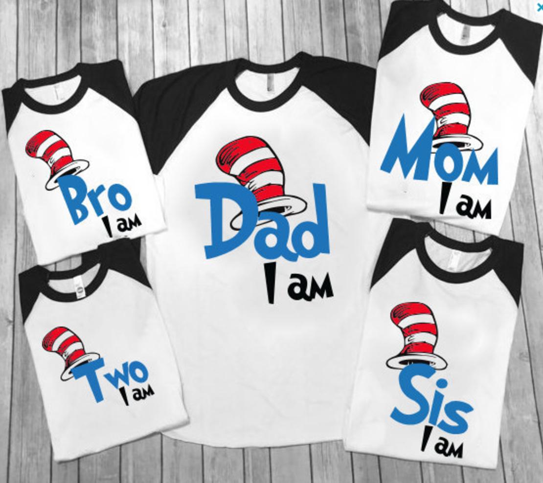 Dr Seuss Kids Shirts: Dr Seuss Family Shirts
