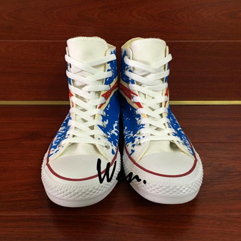 9834791a7bd6c9 Wen Hand Painted Shoes Iceland Flag Original Design Converse All ...