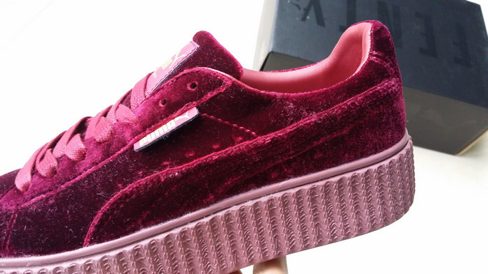 4f5dbef99e0f ... Fenty by Rihanna women s Velvet Burgundy Creeper Fashion Casual sneaker  - Thumbnail 4