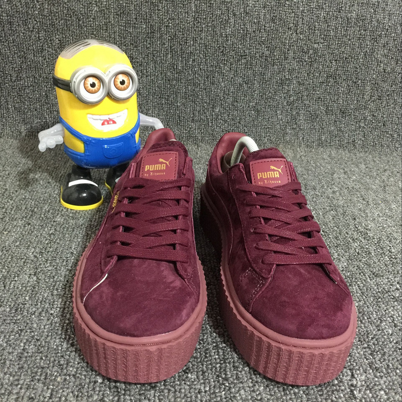 buy online 88d13 ca341 Fashion Fenty x Rihanna Suede Creepers women's/men's Turnover shoes Casual  sneaker red from supplier