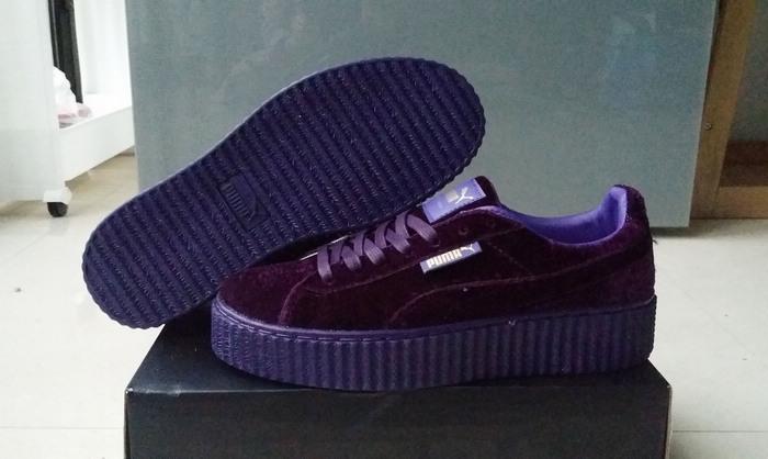 cheaper e4a0e da155 Fashion Fenty by Rihanna women's/men's Velvet Creeper Casual sneaker purple