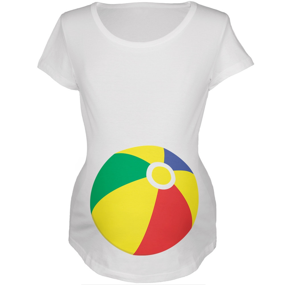 bd03223efd3cc Beach Ball Summer Baby White Maternity Soft T-Shirt on Storenvy