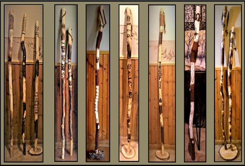 Hiking Stick Custom To Order Your Design Choice On