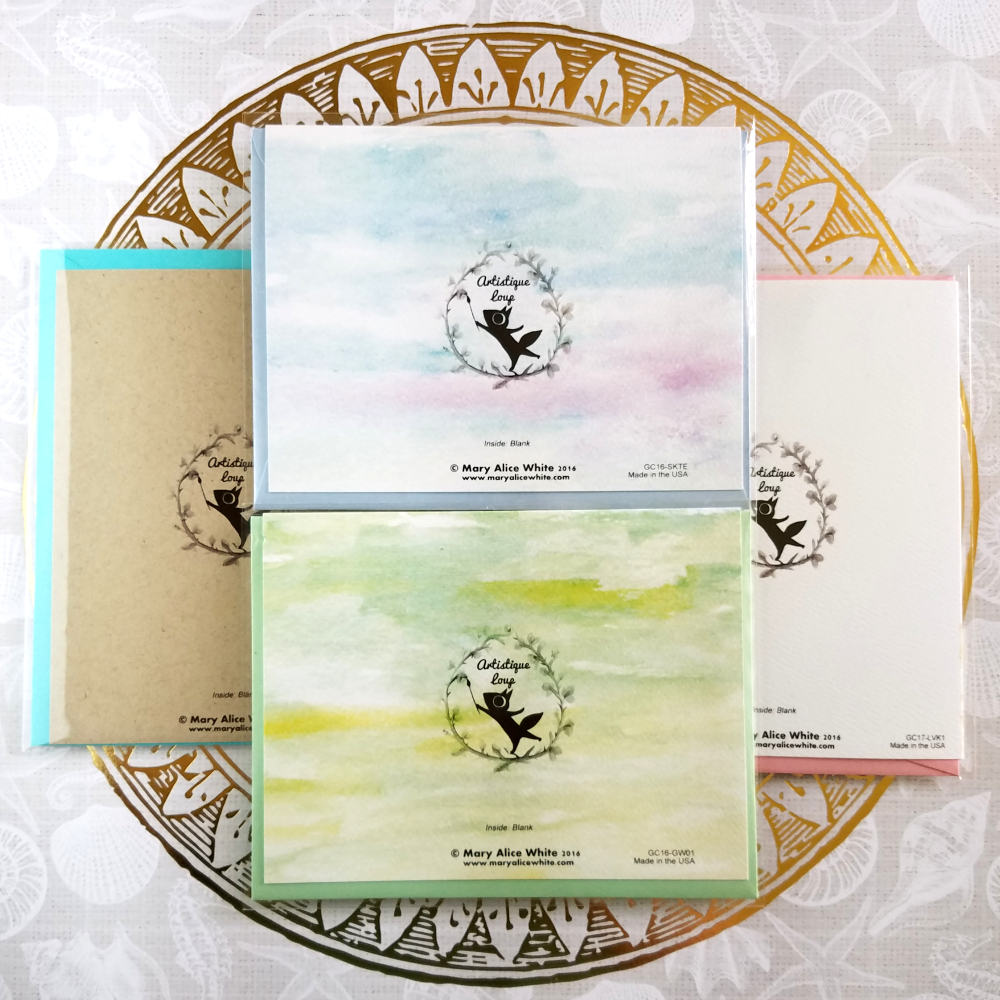 Wall Draw Girl Greeting Card Artistique Loup Online Store