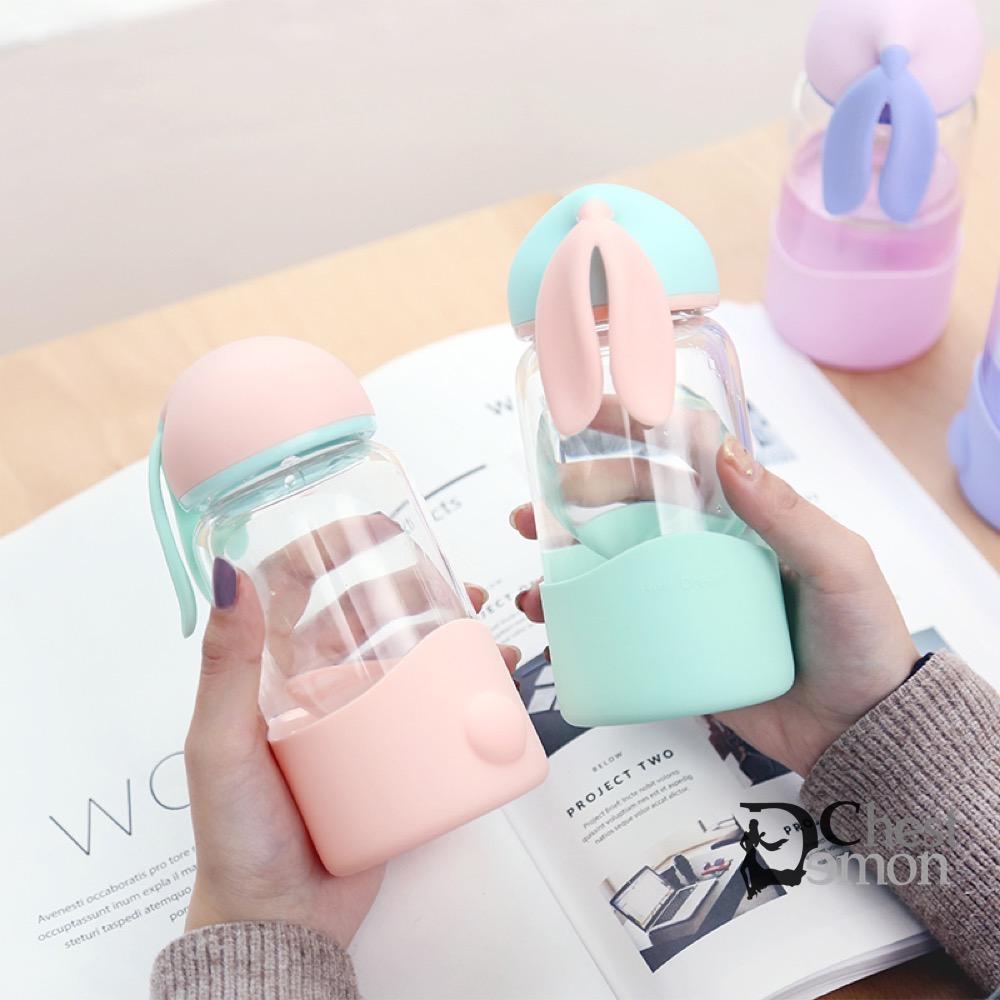 7cccd66cf7b Cute Rabbit Ear Candy Color Water Glass Portable Mini Mugs DC267 ...