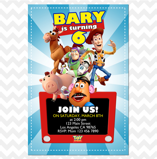 Toy Story Invitation Etch A Sketch Woody Invites Sold By Ithinkparty