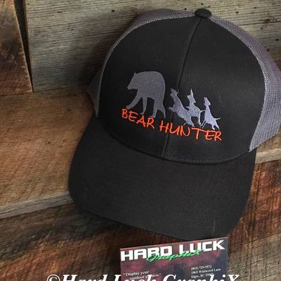 8709015757d Bear Hunter Embroidered SnapBack Hat · Hard Luck GraphiX · Online Store  Powered by Storenvy