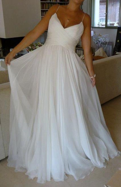 Sexy Spaghetti Straps Beach Wedding Dresses Bridal Gowns