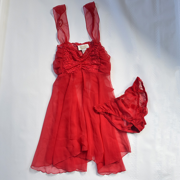 aa64010be878a Vintage Crimson Red Sexy Victoria s Secret Negligee on Storenvy