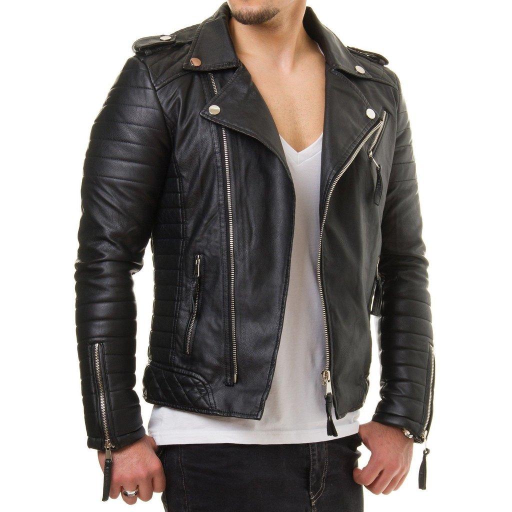 d808c3c6a4 Men leather jacket, Leather jacket mens, black Biker leather jacket ...