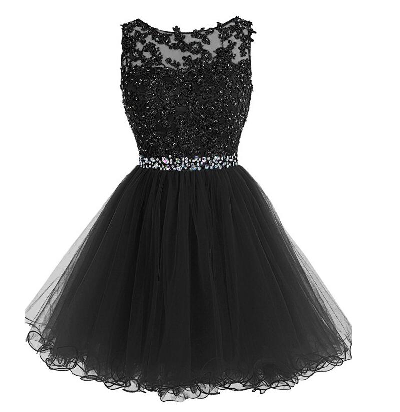 Black Homecoming Dressshort Prom Dressgraduation Party Dresses