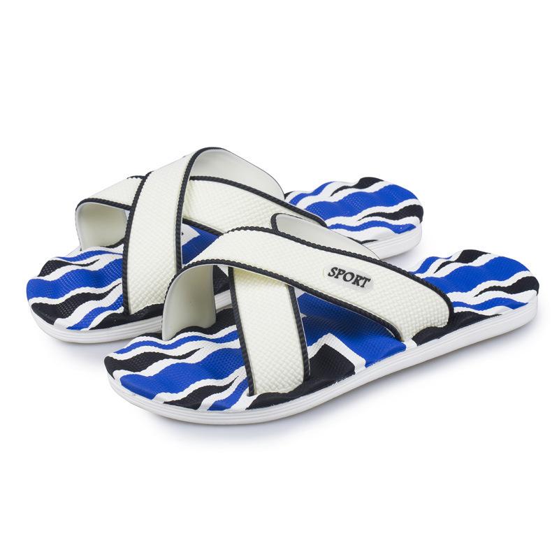 26676a1afa89 ... Summer Casual men s Flip Flops Flat Sandals Shoes For men Striped Beach  Sandals UK US Fashion