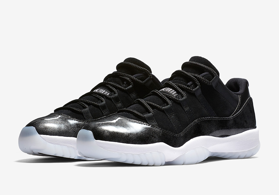 "low priced bbcc5 95557 AIR JORDAN 11 LOW ""BARONS"" Men 8.5-13 Color: Black/Metallic Silver-White"