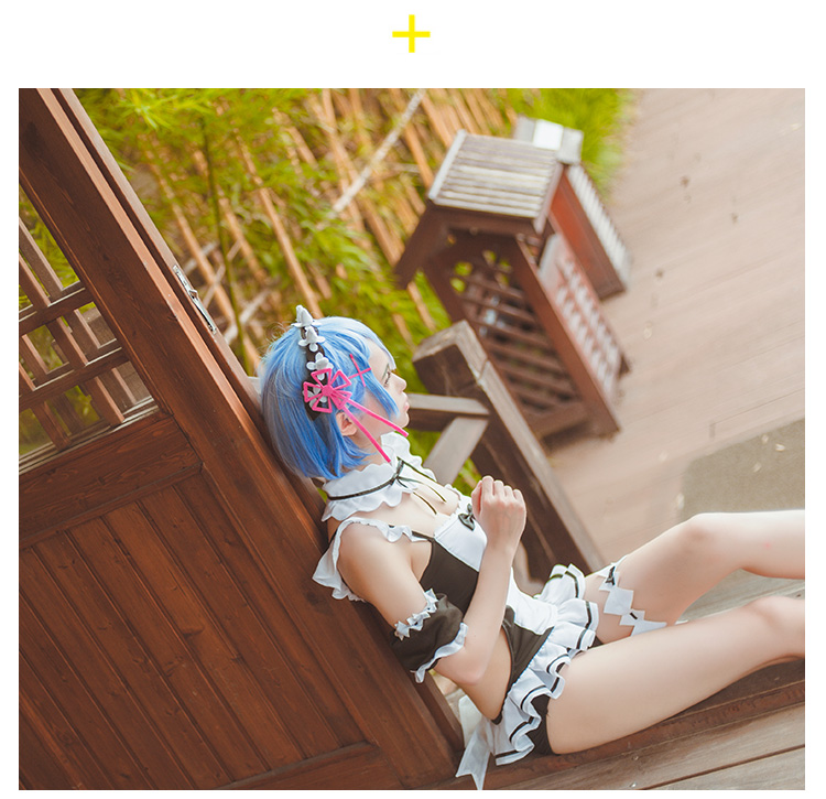 54524eaff328f Re Zero Rem Swimsuit - Cosplay Costume   One Piece Bathing Suit on ...