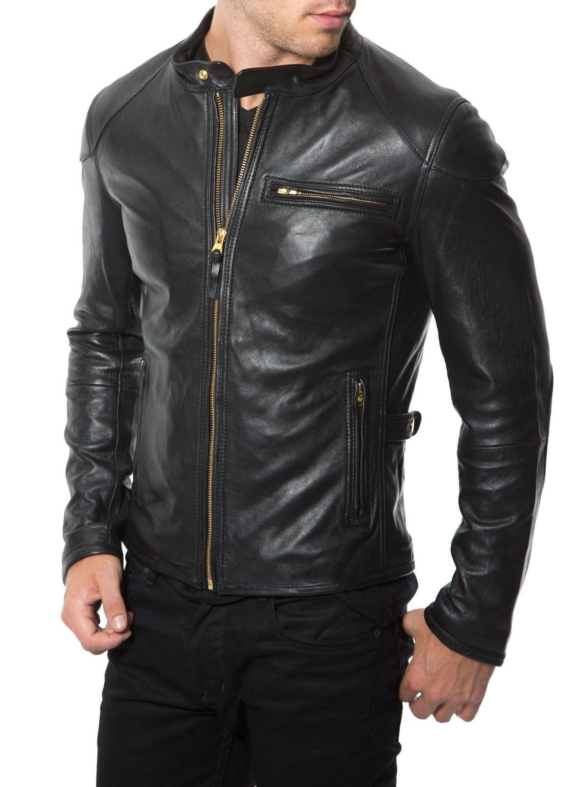 Men Black Biker Jacket Mens Leather Jacket Black Leather Jackets
