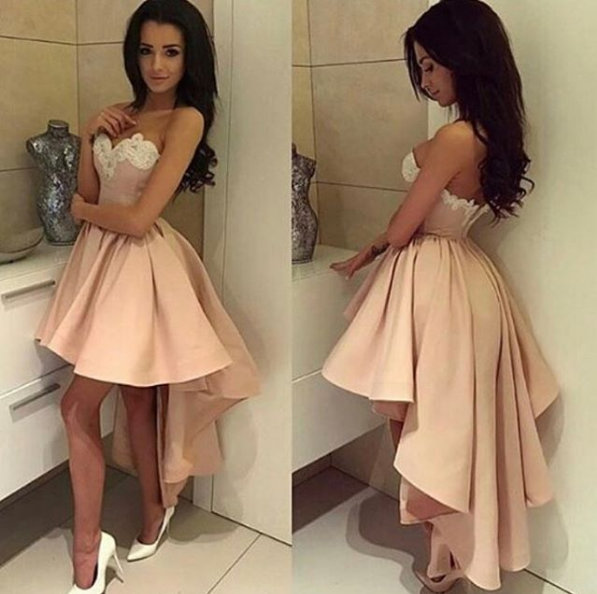 18331020133 Sexy High-low Homecoming Dress