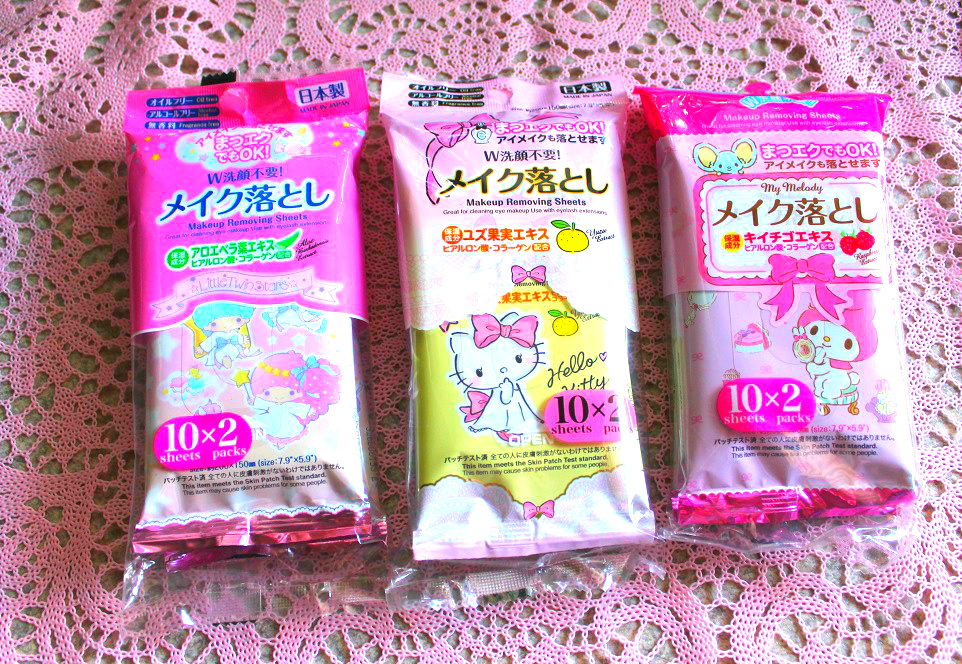 8007024e0 Sanrio Makeup Removing Sheets (Little Twin Stars, My Melody, Hello Kitty)-