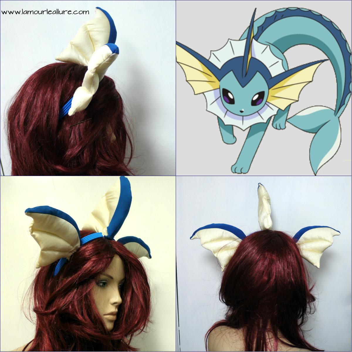 Vaporeon Cosplay Ears Vaporeon Pokemon Ear H...