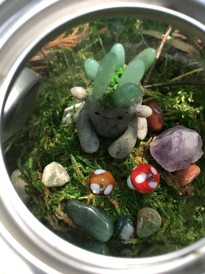 A Fearsome Artisans Craftbox Garden Guardian Golem With Habitat