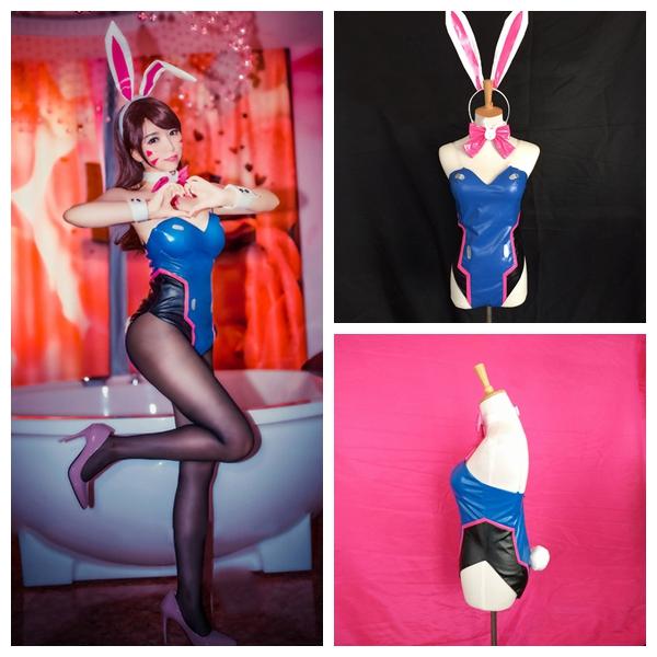 Dva Overwatch Hana Song Mech Bunny Girl Sexy Cosplay ♡ On