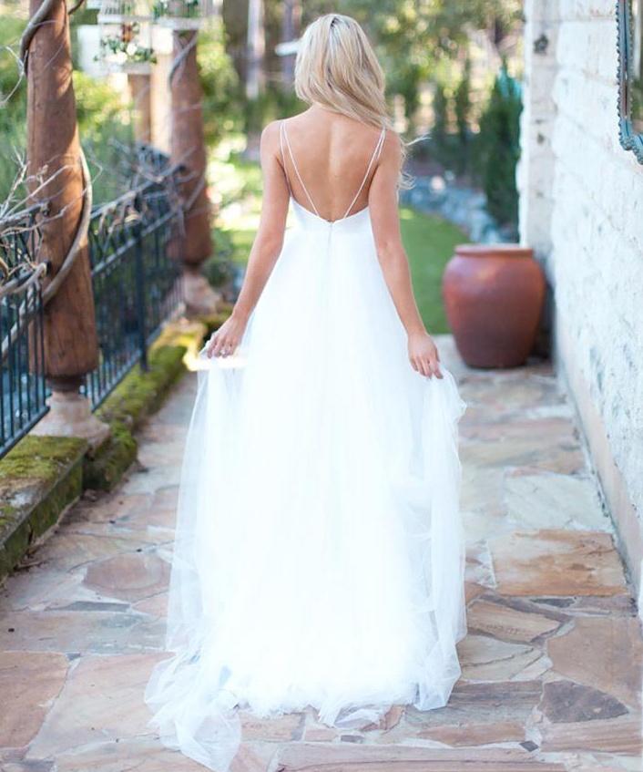 Shop Online Beach Wedding Dresses Cheap Wedding Dresses: White Wedding Dresses,Simple Wedding Dress,Cheap Wedding
