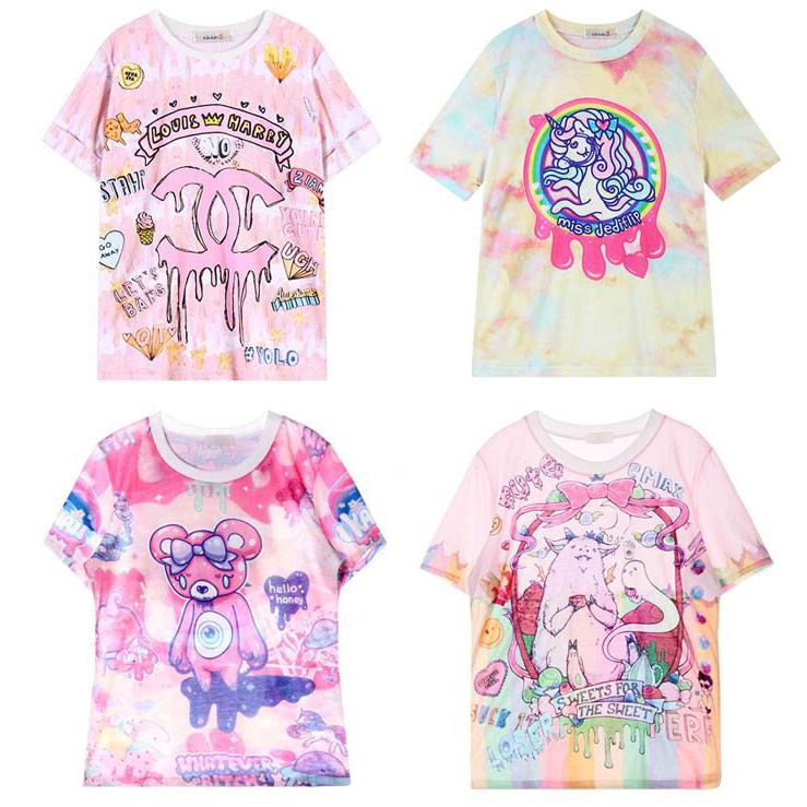 Japan 20retro 20cute 20pink 20cartoon 20t shirt 20harajuku 20girly 20tee  20dc410 original 68feef681