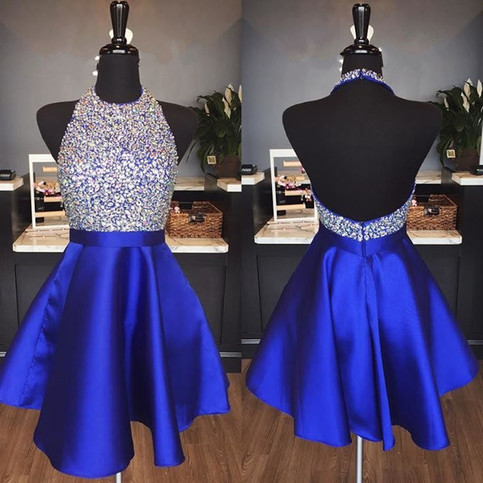 Elegant Prom Dress Satin Prom Gown Short Homecoming Dress