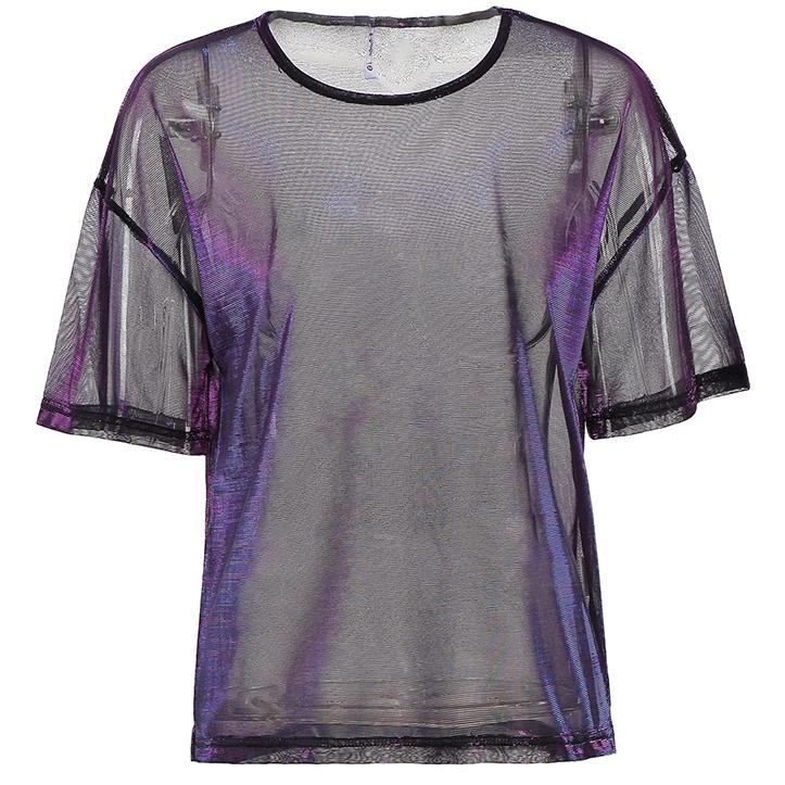 f0c5458e264b Iridescent Mesh Shirt (Purple Black) · Megoosta Fashion · Free ...