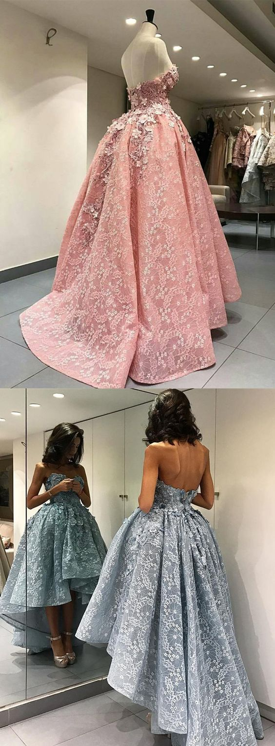 New Arrival Prom Dress Lace Ball Gown Prom Dresses High Low Evening Dress Fashiondressee Online Store Powered By Storenvy