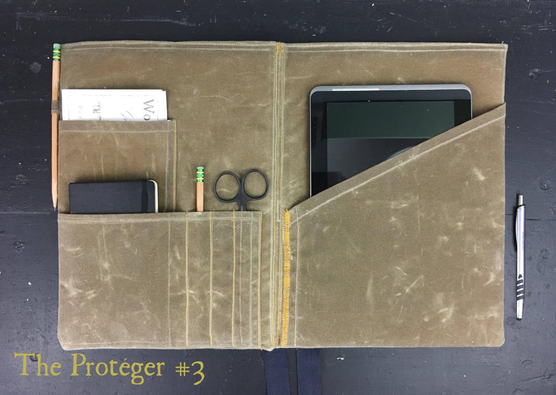 brand new 23333 b88c8 iPad Case, Personalized Portfolio, Waxed Canvas iPad Portfolio, Legal Pad  Portfolio, Tablet case, Oilskin Journal Cover, notebook cover