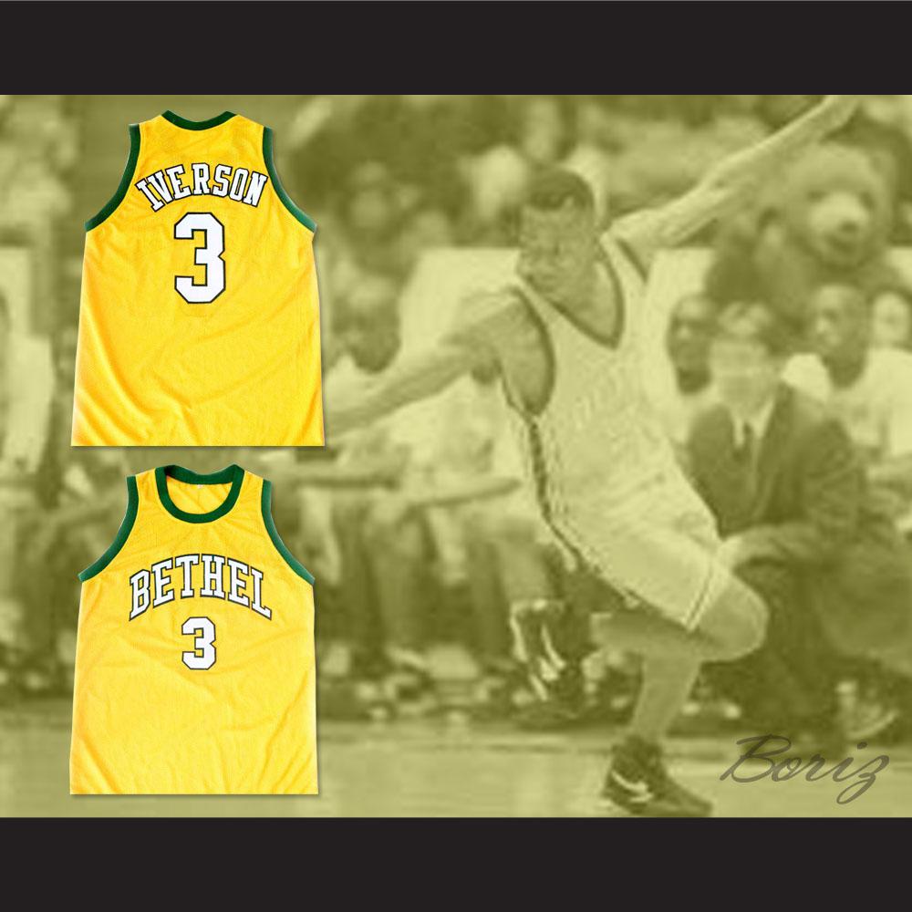 eddaee1d1792 ... Allen Iverson Bethel High School Basketball 3 Jersey NEW Stitch Sewn -  Thumbnail 2