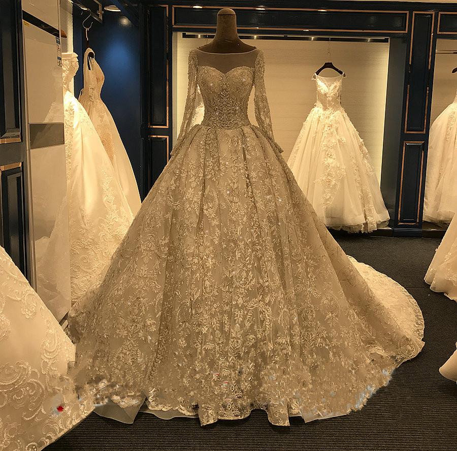 Big Long Train Luxury Real Photos Wedding Dresses Amanda Novias ... 532a656ed917