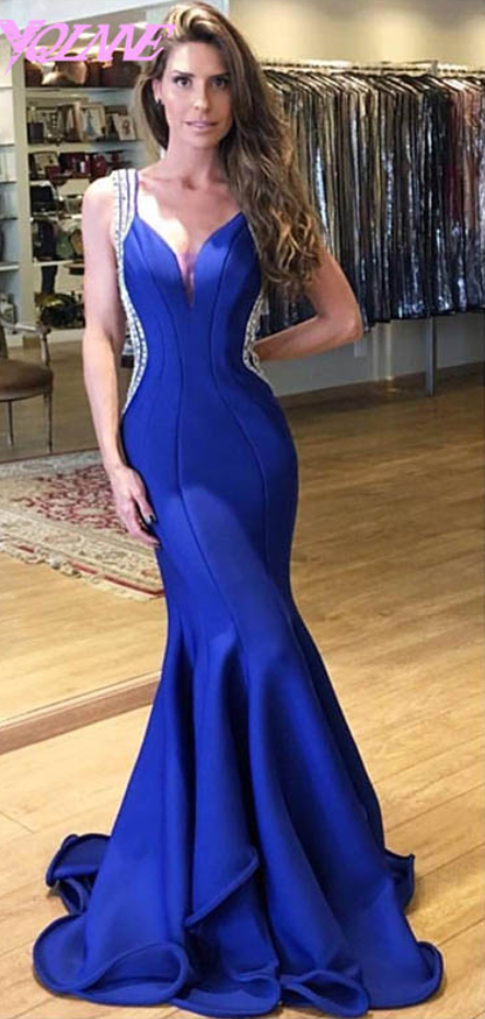 100% satisfaction luxury discount collection Prom Dresses,Mermaid Prom Dresses,Royal Blue Prom Dresses,Prom Gown,Strap  Prom Dresses,Fashion Women Dresses,Formal Gown from olesa wedding shop