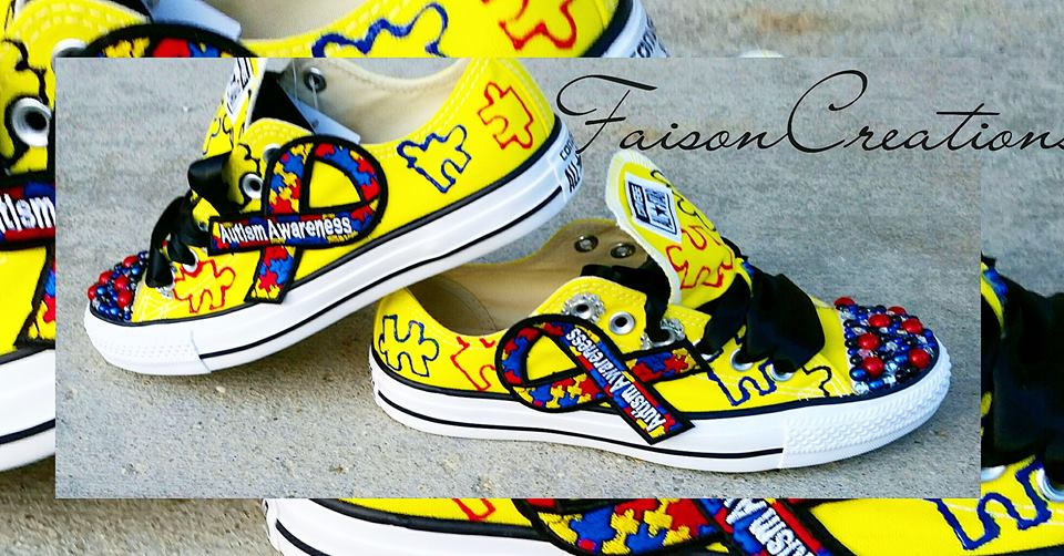 d0d0773dcfb7fa Autism Awareness Custom Converse · FaisonCreations · Online Store ...