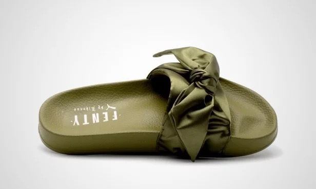 Puma X Fenty Bandana Slide Bow olive branch Slippers on Storenvy 11b400dfb