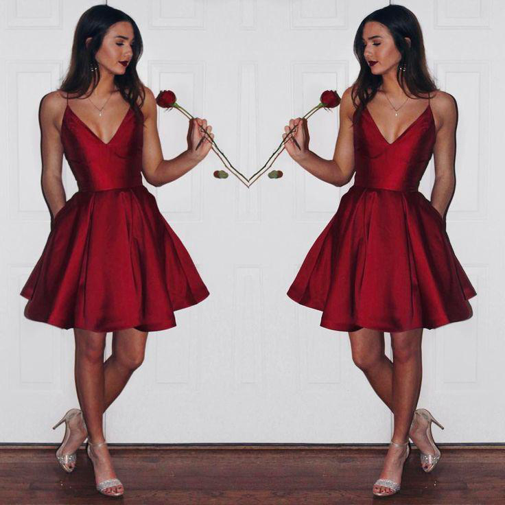 f2a8e1e061 Burgundy Homecoming Dresses
