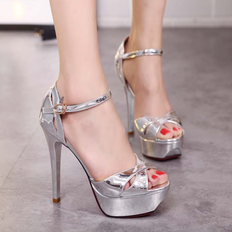 Silver Sexy Heels