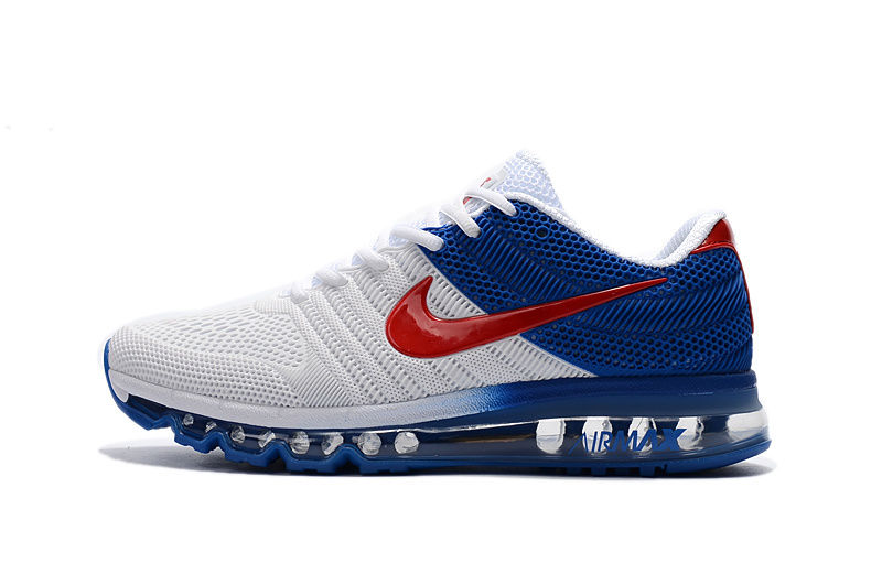 brand new 45dea fb72b NIKE AIR MAX 2017 Men s Running Trainers Shoes Red Blue White on ...
