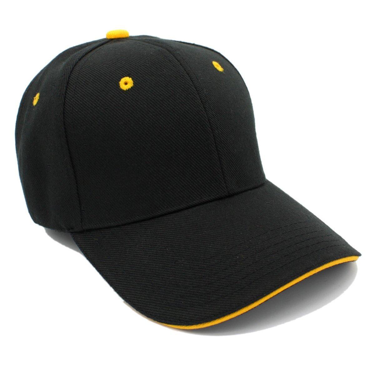 4f0f83ae5b8 Plain Baseball Cap Color Eyelet Adjustable Velcro Strap Hat for ...
