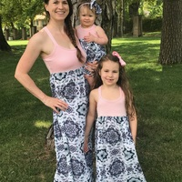 0b5035580419 ... Mommy and Me Maxi Dress-Mommy and Me Summer Dress-Boho Dress-Cross ...
