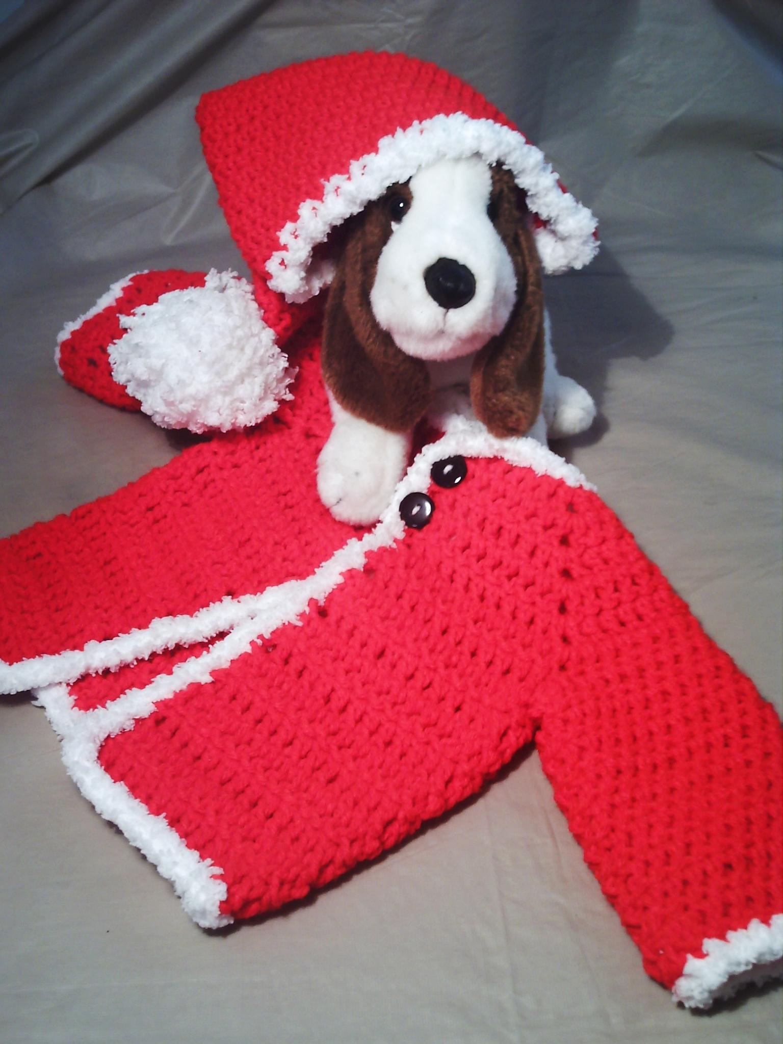 711ab1f40 SALE~ Santa Christmas baby crochet set 3-6 months (was 24.99) on ...