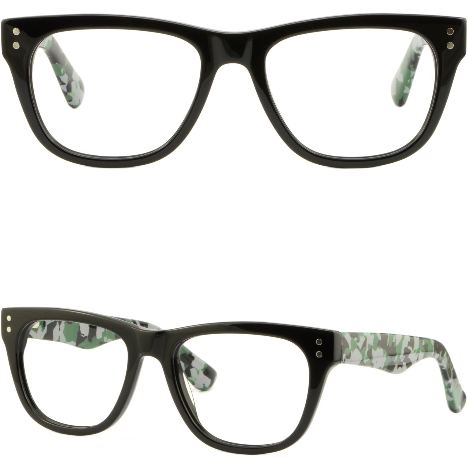 Square Men Women Acetate Frames RX Prescription Glasses Woodland ...