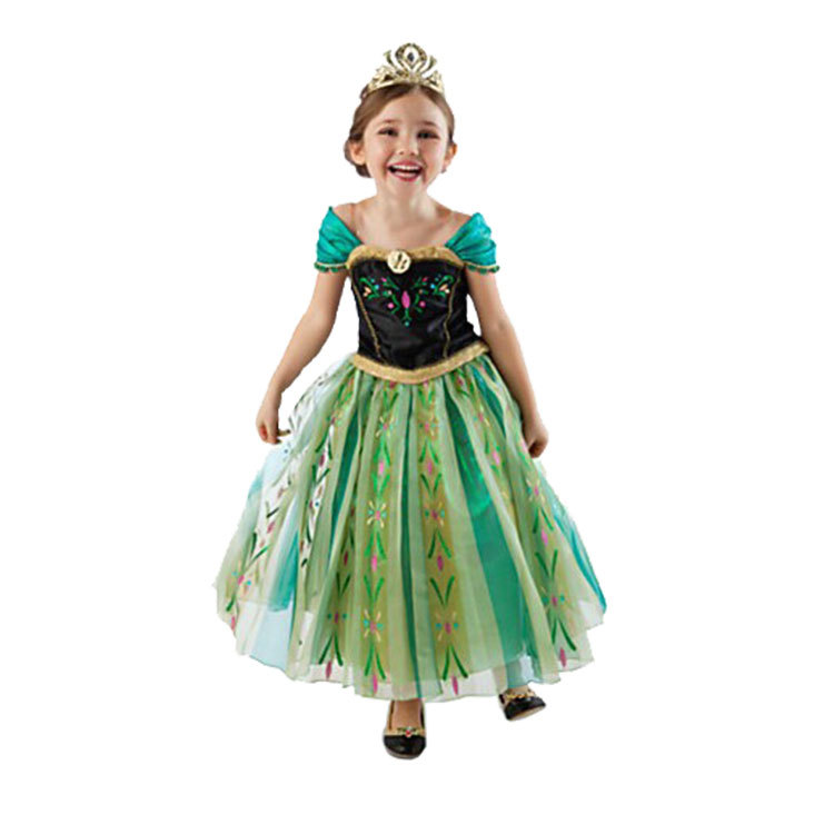 grils fancy disney frozen elsa anna halloween cosplay dresses princess snow queen party costume dress
