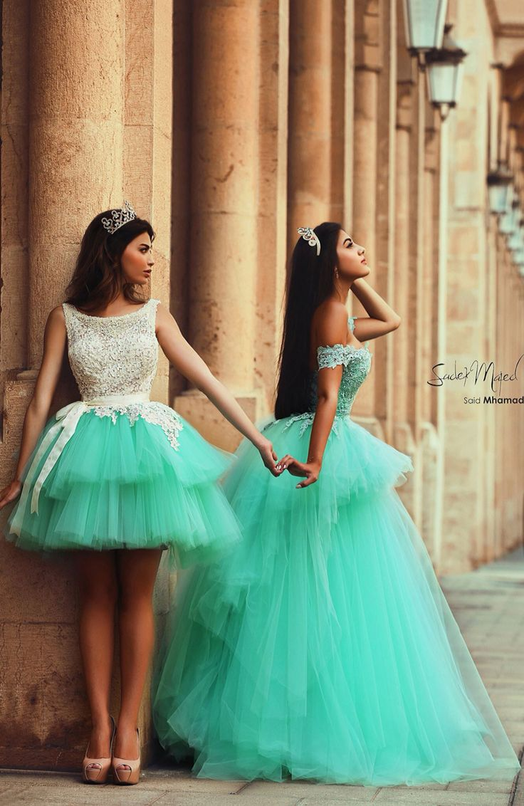 Mint Green Prom Dress with Lace,Long Tulle A Line Lace Prom Dress ...