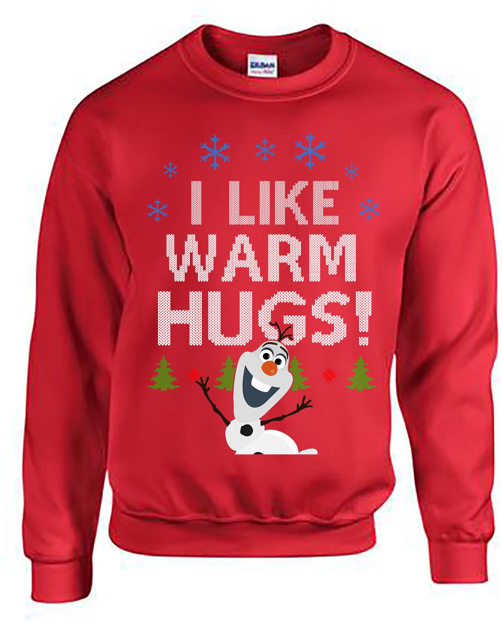 Frozen, Olaf, I Like Warm Hugs, Olaf Ugly Christmas Sweater, Ugly ...