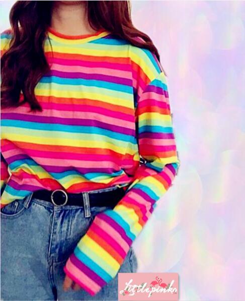 803ae0147f Rainbow Stripe Long Sleeve T-shirt on Storenvy